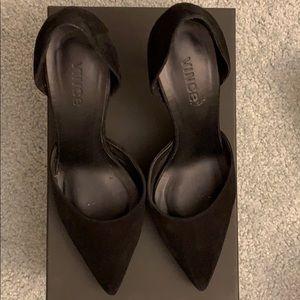 Vince suede black heels